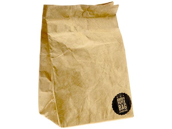 Bolsa para el amuerzo retro papel