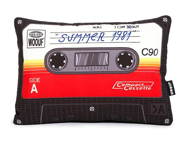 Cojin Cassette retro años 80