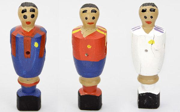 Jugadoes de Futbolin de madera