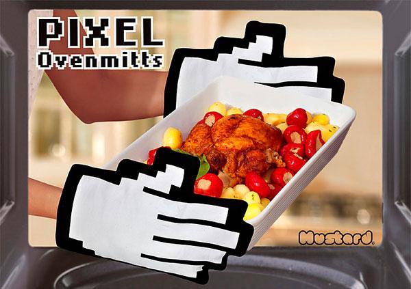 Manoplas de Cocina Pixeladas