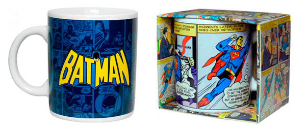 Taza Batman y Taza Superman regalos frikis